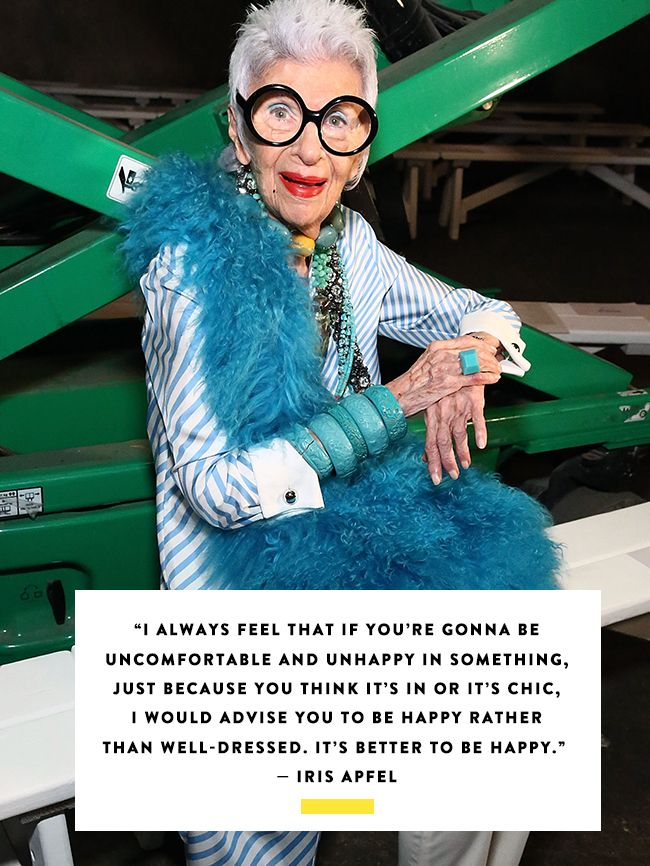 Happy Fashion Quotes: Iris Apfel