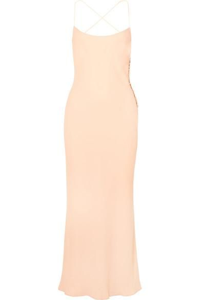 Margot Open-back Crepe Maxi Dress