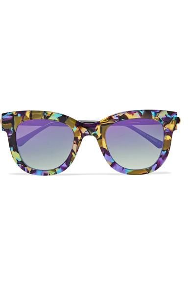 Thierry Lasry Sexxxy Cat-Eye Acetate and Gold-Tone Sunglasses