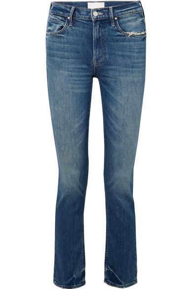 The Flirt Chew Distressed Mid-rise Slim-leg Jeans
