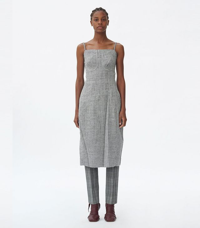 Céline Strap Dress in Light Wool Tweed