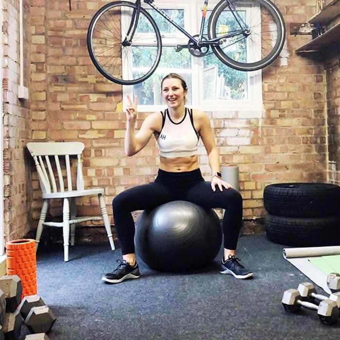home gym: Amy Hopkinson