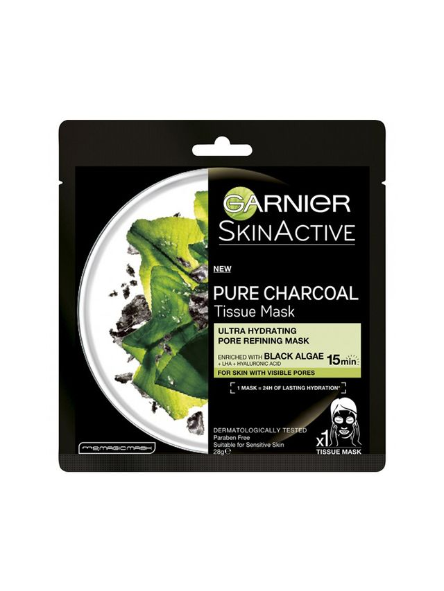 Garnier Pure Charcoal Tissue Mask with Black Algae