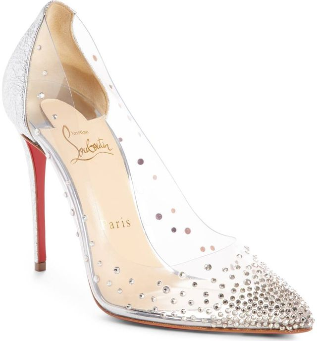 Degrastrass Clear Embellished Pump