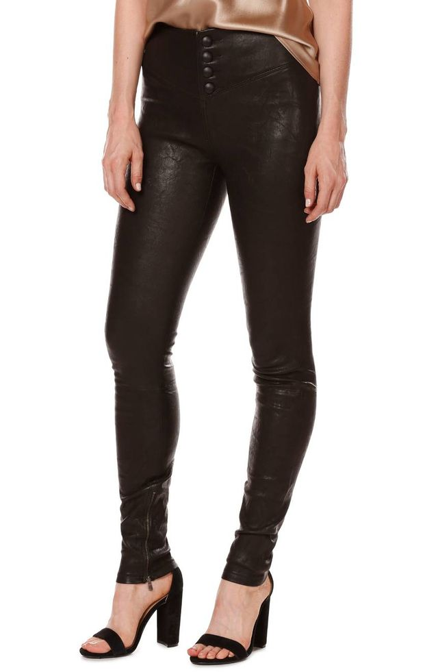 Women's Rosie Hw X Paige Ellery Ankle Zip Leather Pants