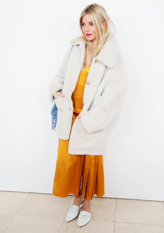 Sienna Miller teddy bear coat:
