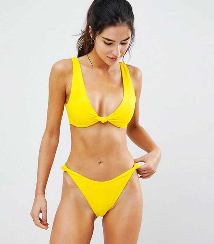 Best asos swimwear: Yellow Knot Bikini