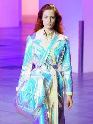 The Fuzzy Bucket Hats, Ombré Silks, and Iridescent Trench That Won Our Hearts