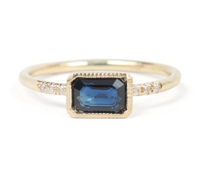 Jennie Kwon True Blue Sapphire Ring