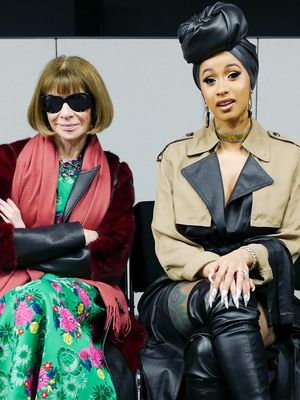 Cardi B Sat Next to Anna Wintour in $99 Steve Madden Boots