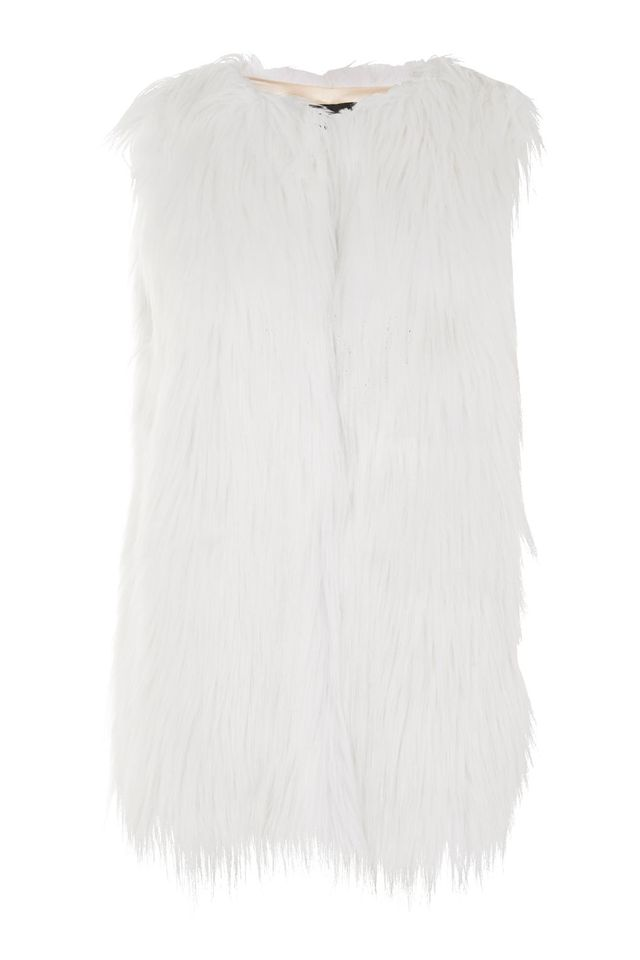 SHACI White Faux Fur Gile