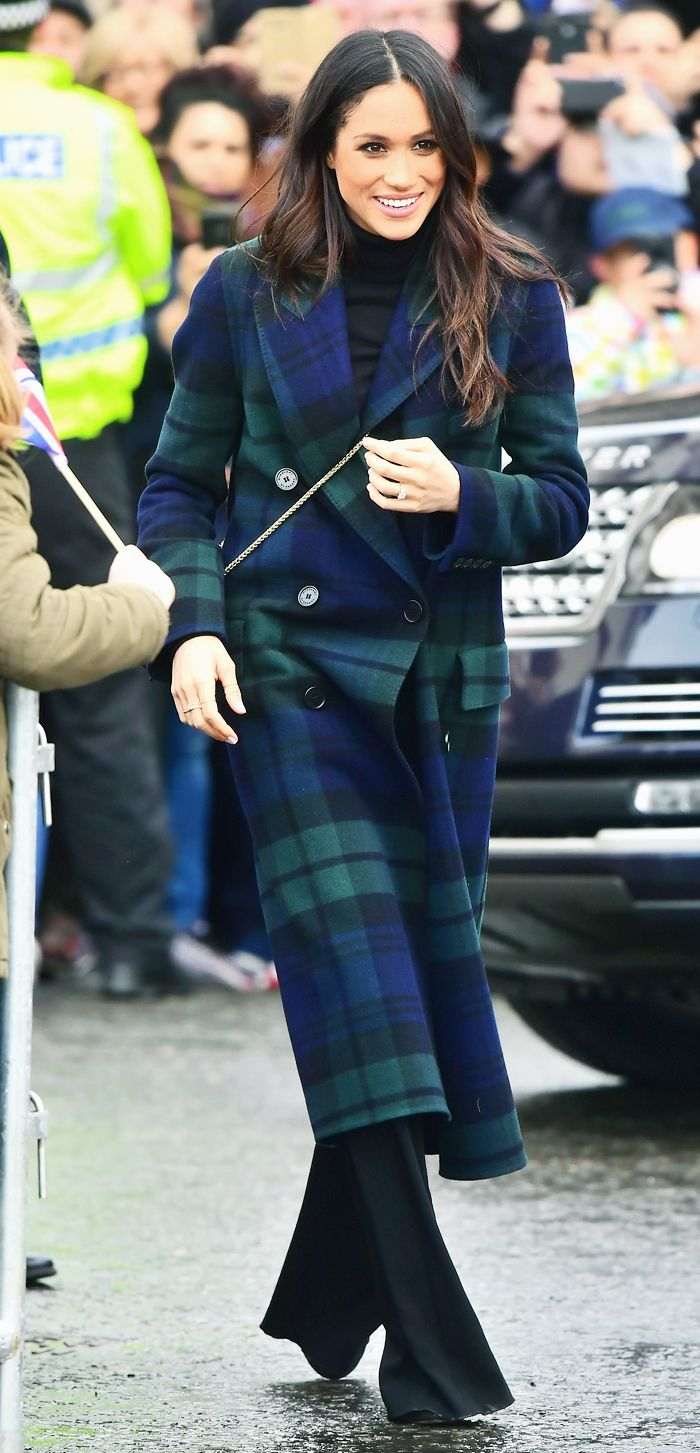 Meghan Markle checked coat: