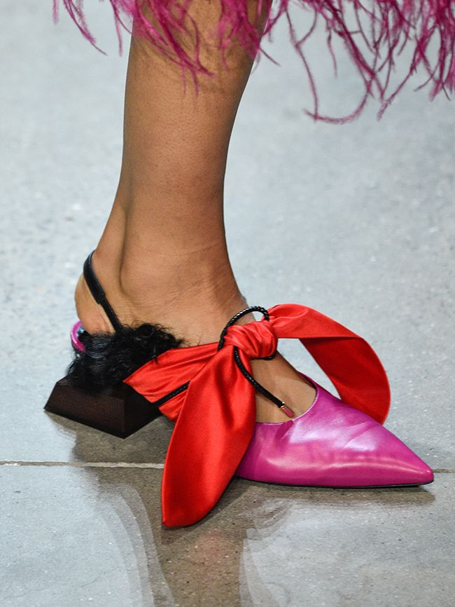 Shoe Trends Autumn Winter 2018: bows at Prabal Gurung