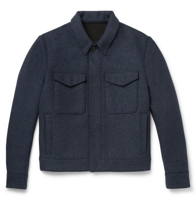 Mr P. Mélange Felt Blouson Jacket