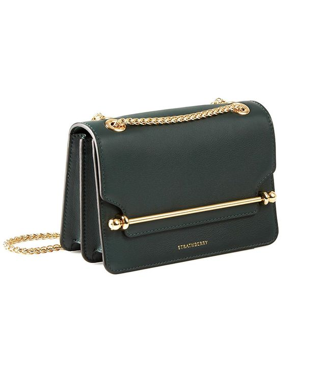 Strathberry East/West Mini Bag in Bottle Green