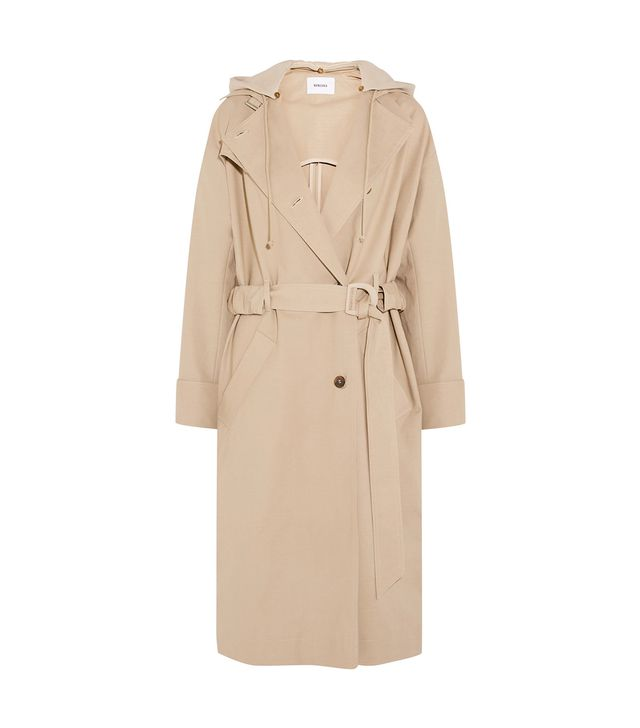 Dakota Belted Hooded Cotton-blend And Fleece Parka