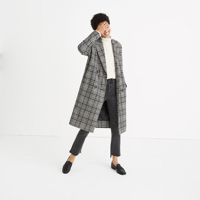 Plaid Goodwin Oversized Topcoat