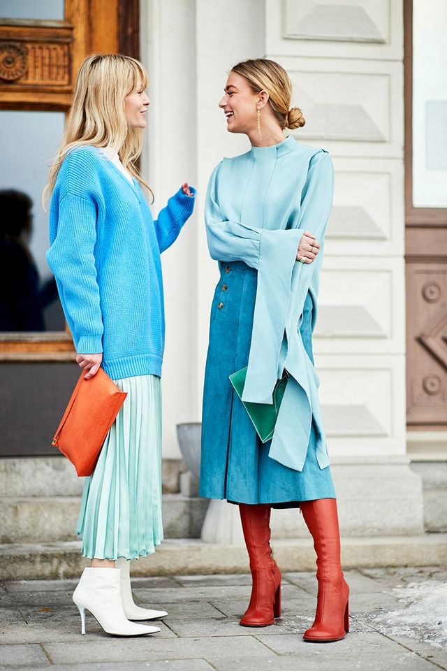 Two is better than one—coordinate color schemes with your stylish bestie.