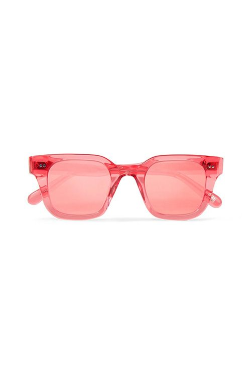 Square-frame Acetate Mirrored Sunglasses
