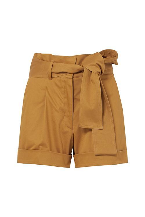 Velano Belted Cotton-blend Shorts