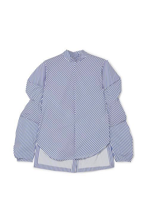Somma Striped Cotton-poplin Top