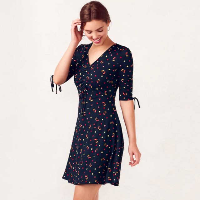 LC Lauren Conrad Print Fit and Flare Dress