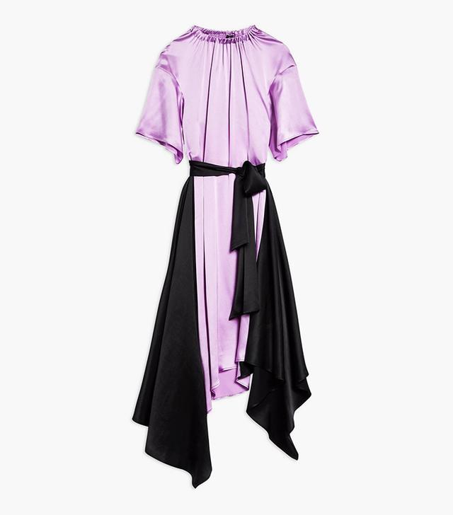 Topshop Boutique Elastic Neck Satin Maxi Dress