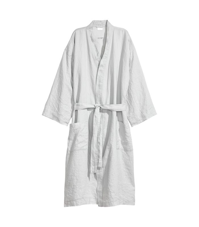 Washed Linen Bathrobe by H&M