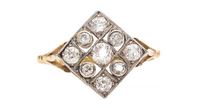 Vintage 1915 Edwardian Old Mine Diamond Ring