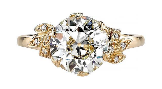 Single Stone Old European Cut Engagement Ring