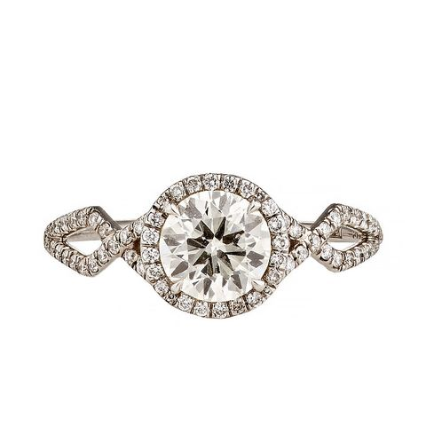 Brilliant-Cut White Diamond Ring