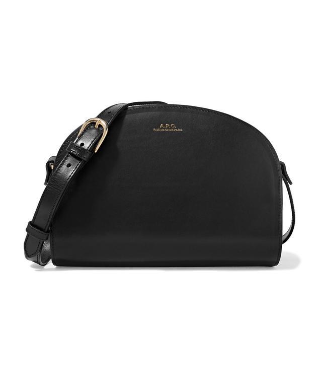 Demi Lune Leather Shoulder Bag