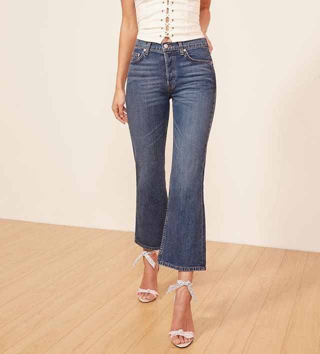 Mid Crop Flare Jean