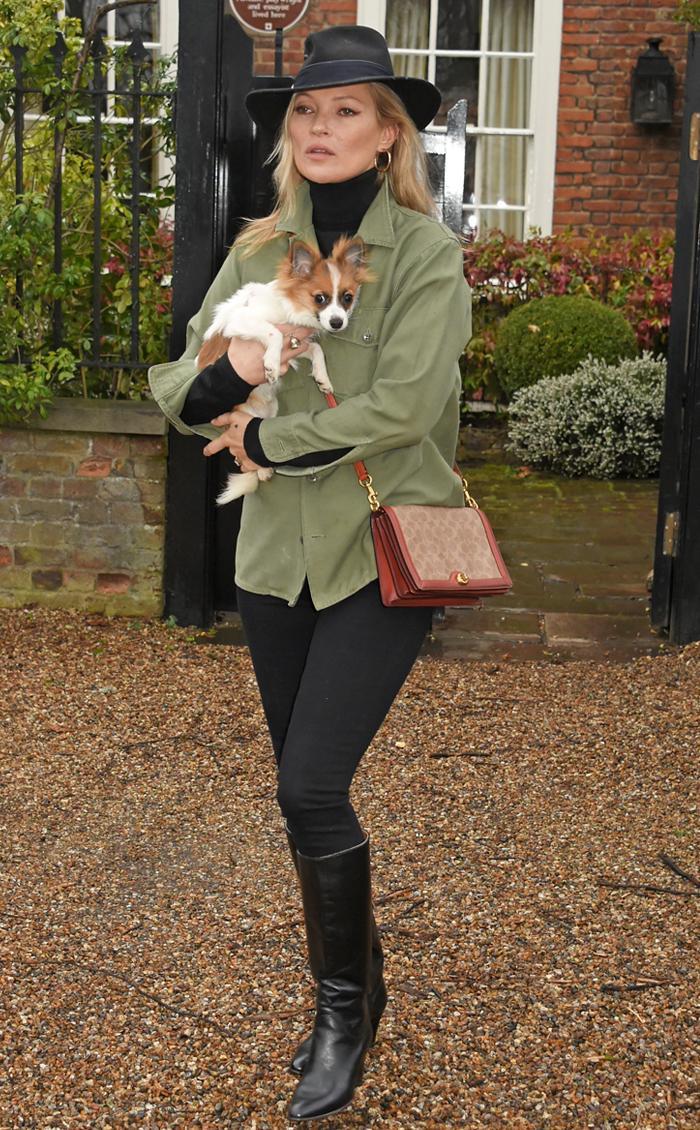 Kate Moss khaki jacket