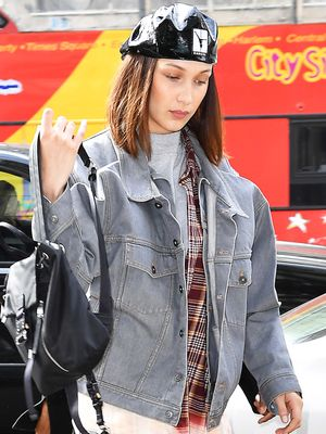 This Is the Bella Hadid Way to Wear Patent Leather Pants