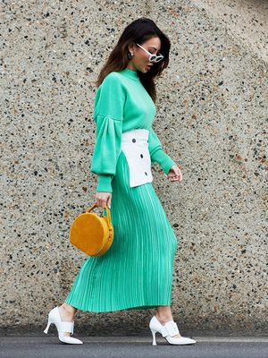 50 Street Style Snaps of the Most Colourful Outfits at London Fashion Week