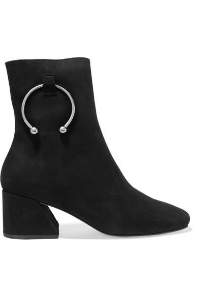 Nizip Embellished Suede Ankle Boots