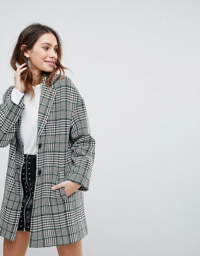 Premium Check Tailored Coat
