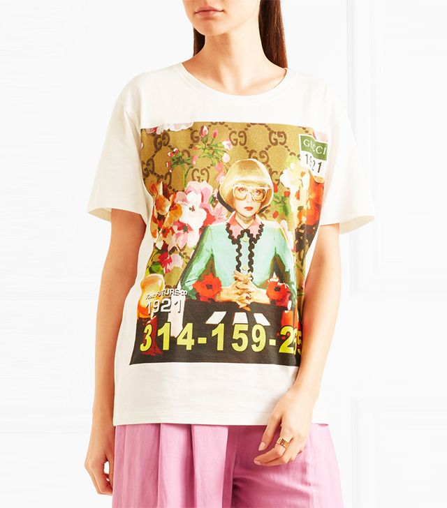 Oversized Printed Cotton-jersey T-shirt