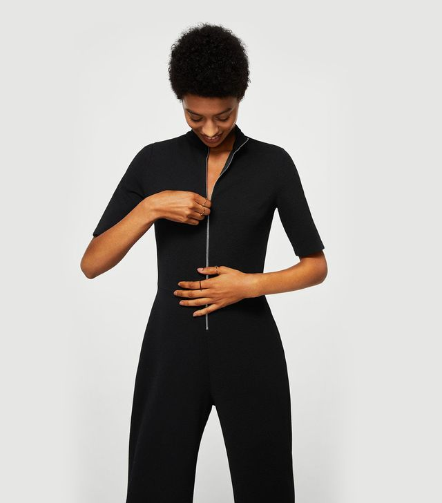 Mango Zip Long Jumpsuit