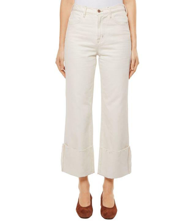 J Brand Joan High-Rise Wide Leg Crop