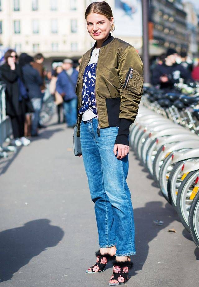 Popular Amazon fashion items: fashion editor wears bomber jacket