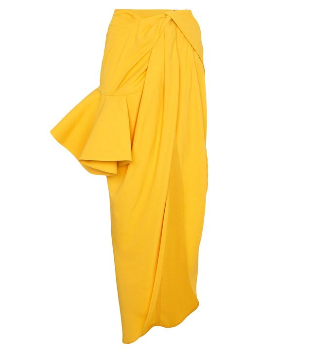 sol asymmetric ruffled skirt