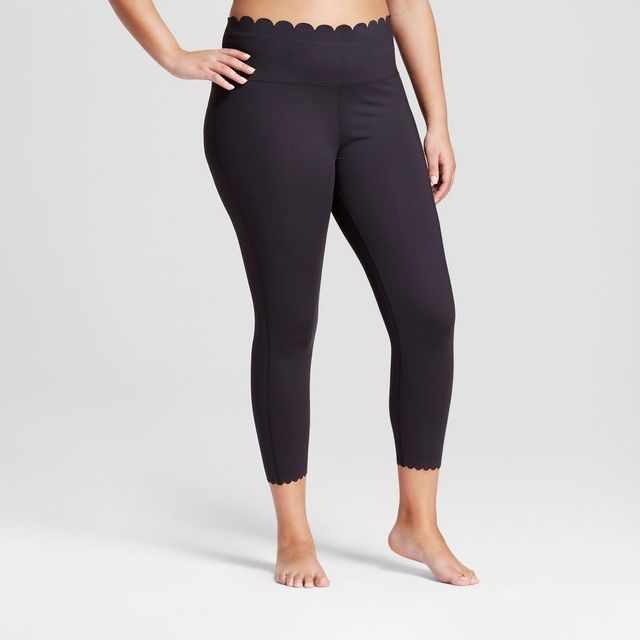 Plus Premium Lightweight High-rise Scalloped Leggings