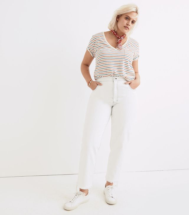 Madewell Tall Tapered Wide-Leg Jeans