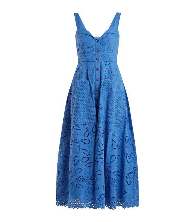 Fara broderie-anglaise cotton midi dress