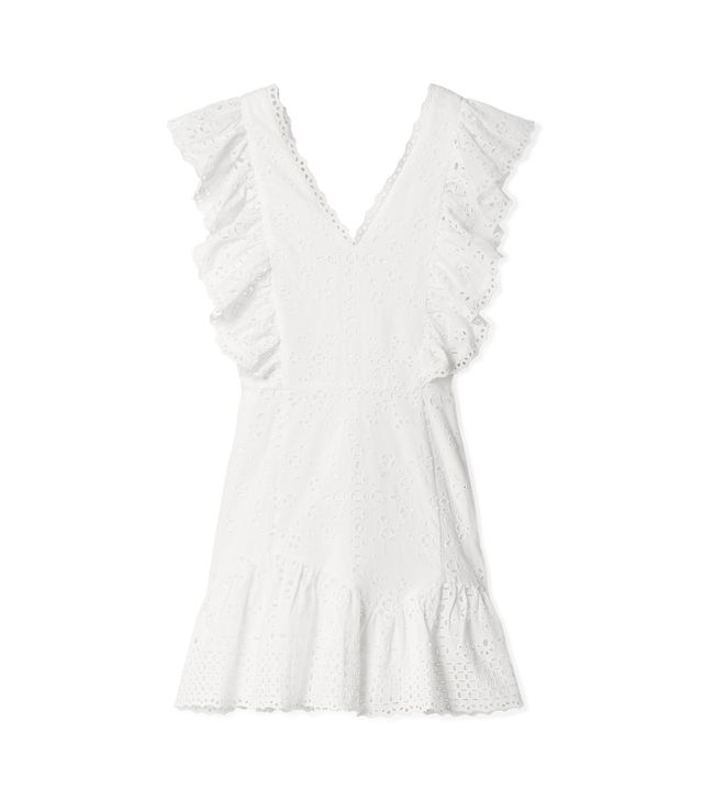 Alanis Ruffled Broderie Anglaise Cotton Mini Dress