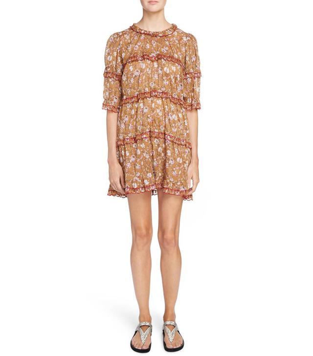 Women's Isabel Marant Etoile Maiwenn Floral Print Cotton Dress