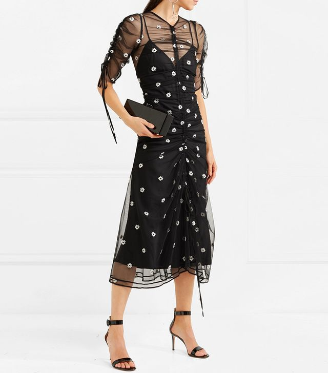 Alice McCall Garden Party Embroidered Tulle Midi Dress