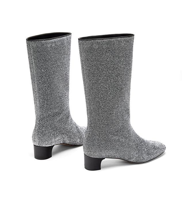 Zara High Heel Glitter Booties